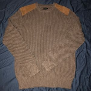 J. Crew Men's M sweater w/ leather shoulder pads